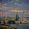 """Evening in Mayport"" Shrimp boats on the St. Johns river in Mayport, Florida."