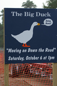 Moving the Big Duck down the road.