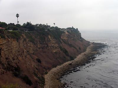 The cliffs by Lunada Bay.