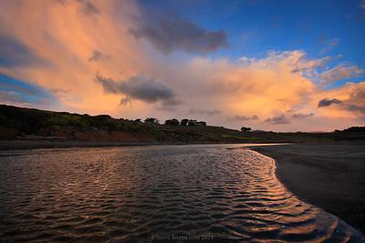 Central California Coast reflection in San Simeon