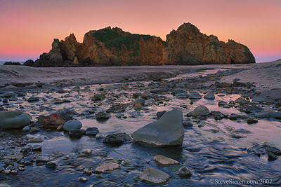 Pfieffer Beach in Big Sur at Dusk - State Park California