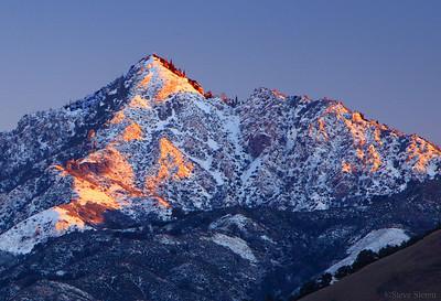 Cone Peak Big Sur Winter Snow California Coast