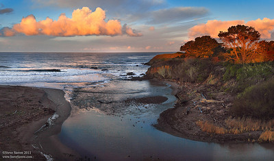 Sunrise near San Simeon