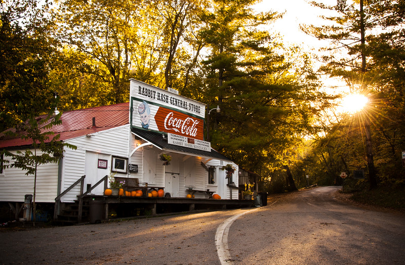 The Rabbit Hash General Store just after sun-up.