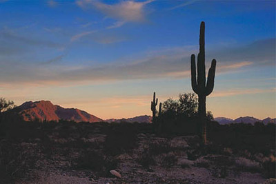 Desert Sunset, Quartzsite Arizona