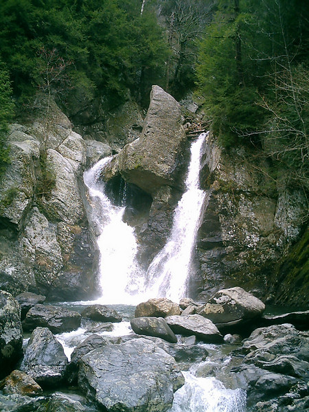 Bash Bish Falls.  This is just the lower third or half of this dramatic, 230foot falls on the edge of MA and NY.
