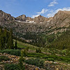 Needles Mountain Range as viewed from Chicago Basin - Weminuche Wilderness Colorado