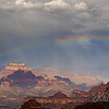 A Rainbow Over the Grand Canyon.