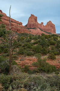 Sedona's sandstone formations from Schnebly Hill Road.