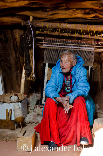 Susy the Navajo Weaver, Monument Valley, Navajo Nation, USA