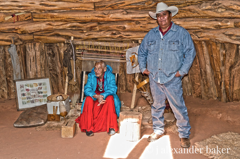Suzy The Weaver and Billy the Guide, Monument Valley, Navajo Nation, USA