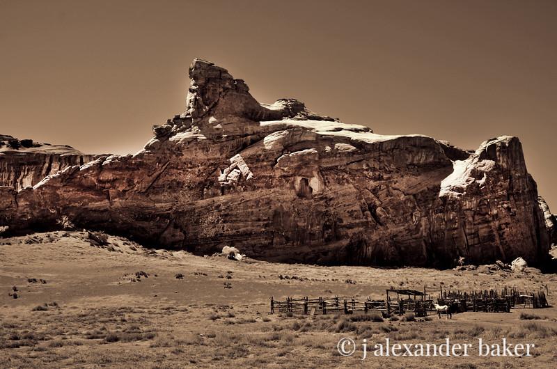 Navajo Corral 2, Monument Valley, Navajo Nation (warmer tint, more red)