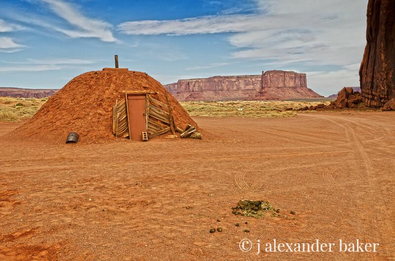 Navajo Hogan, Monument Valley, Navajo Nation, USA