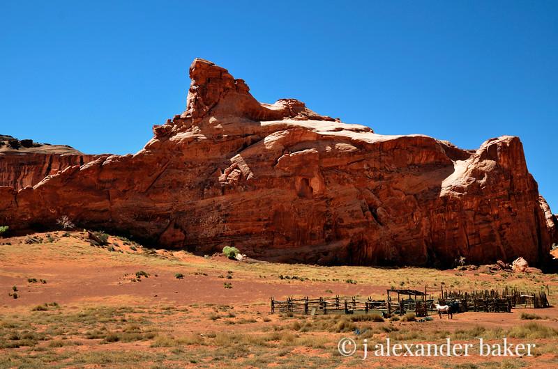 Navajo Corral, Monument Valley, Navajo Nation, USA