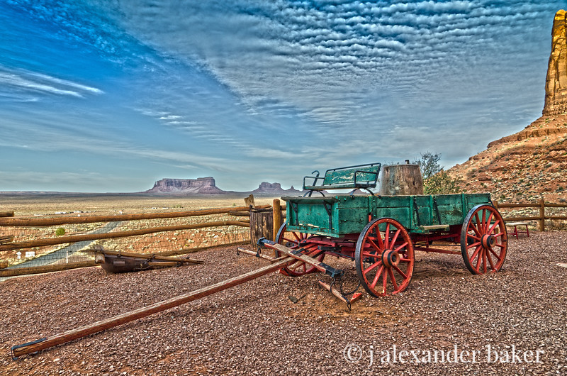 Buckboard at Goulding's Lodge, Monument Valley, Navajo Nation, USA