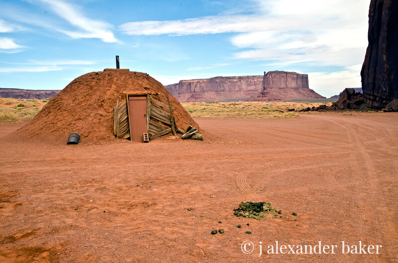Navaho Hogan, Monument Valley, Navajo Nation, USA