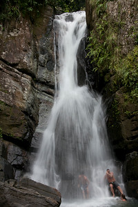 La Mina Falls in El Yunque National Forest, Puerto Rico
