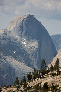 Half Dome seen from Olmsted Point near Tuolumne Meadows