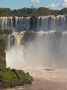 Devil's Throat - part of the Iguazu Falls seen from Argentina