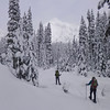 Snowshoeing in Commonwealth Basin; Snoqualmie Pass