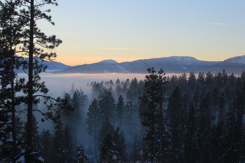 Winter Sunset on Valley Fog
