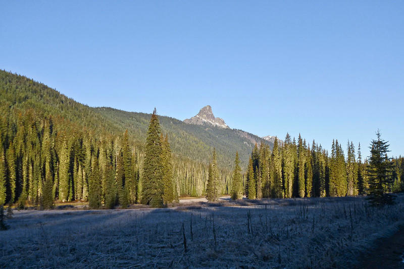 Chimney Rock from Fish Lake.