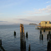 Pier on Columbia River at Astoria, OR