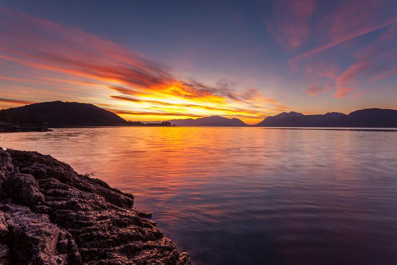 Loch Linnhe Red Sunset - 8645