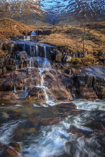 Glen Etive Waterfall - 8573