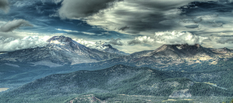 South Sister, Middle Sister and Broken Top