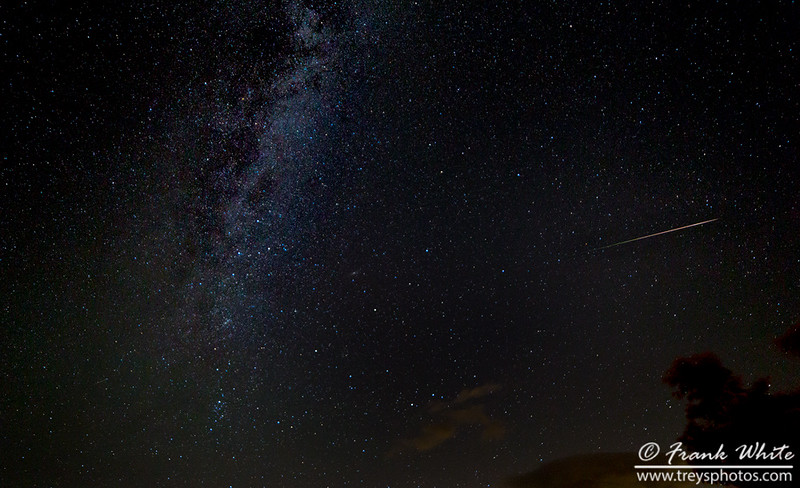 Persied meteors and the Milky Way