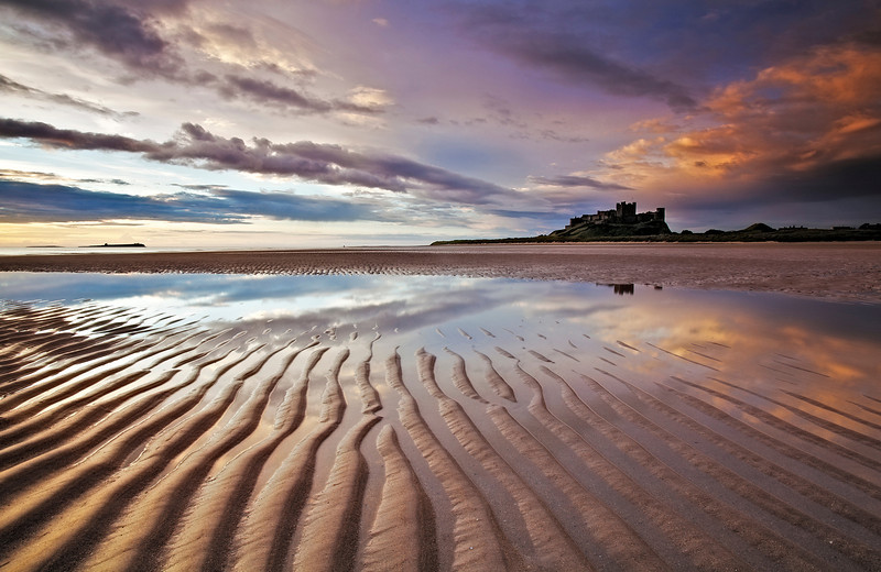 Ripples on the Beach...Bamburgh castle