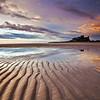 Ripples on the Beach...Bamburgh castle
