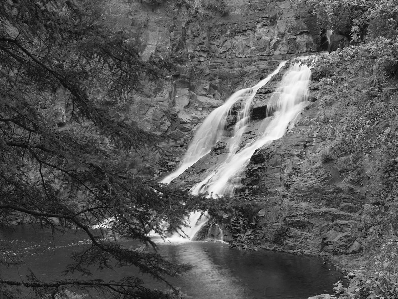 Caribou Waterfalls along Minnesota's North Shore.