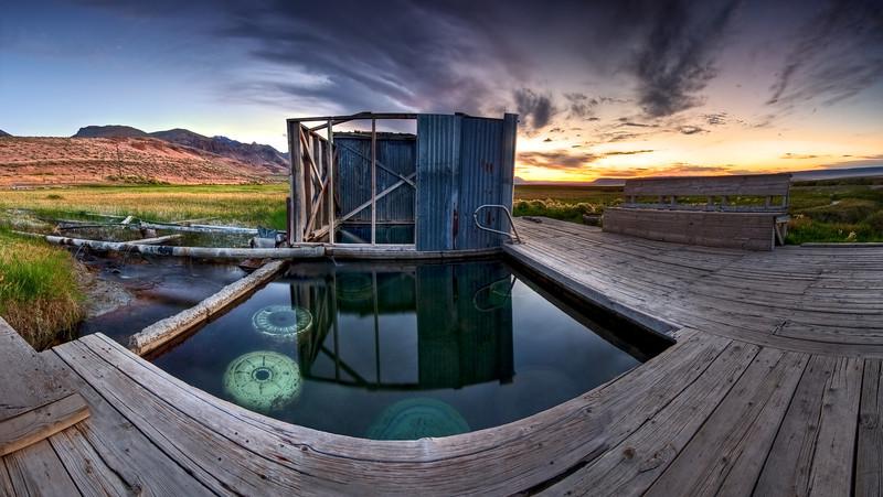 Sunrise at the Alvord Hot Springs