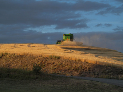 Combine on a Hill Copyright 2009 Neil Stahl