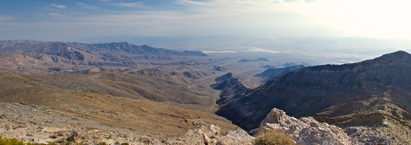 A long downward slope into Death Valley.
