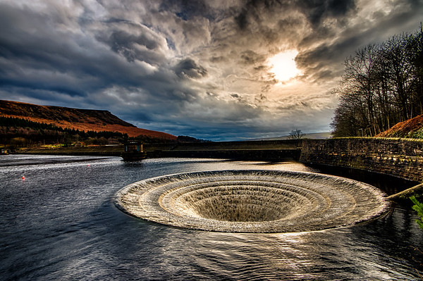 Ladybower Reservoir Bellmouth Spillway