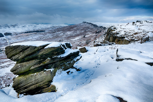 Stanage Edge in Winter