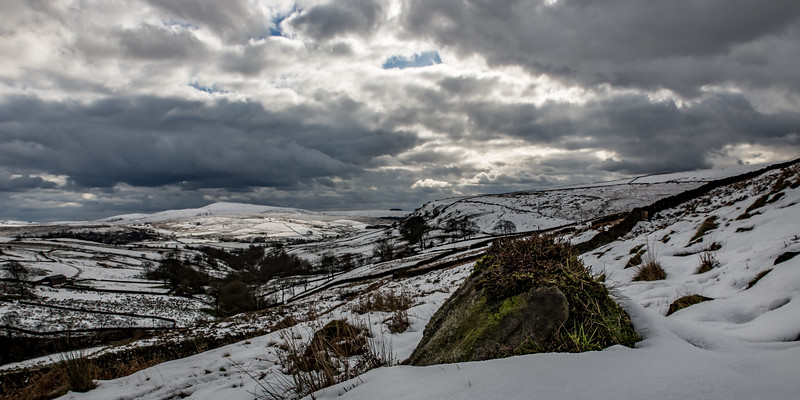 Winter Scene Near Three Shire's Head