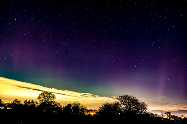 Aurora Borealis Over Macclesfield