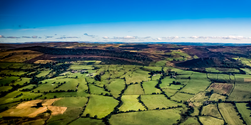 The Roaches and Hen Cloud Aerial