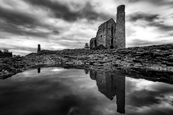 Magpie Mine Reflected in a Puddle