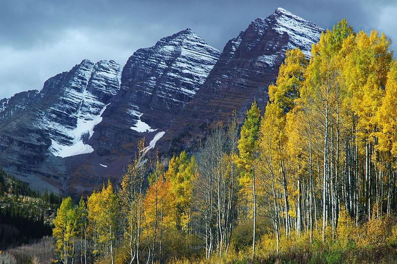 Maroon Bells Snowmass Wilderness Rocky Mountains, Colorado