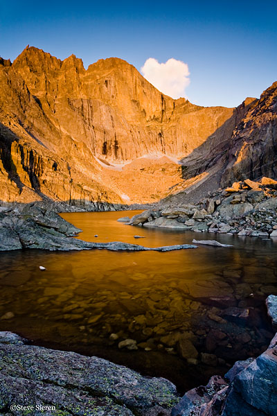 Fade to Gold <br /> Chasm Lake - Rocky Mountain National Park, Colorado