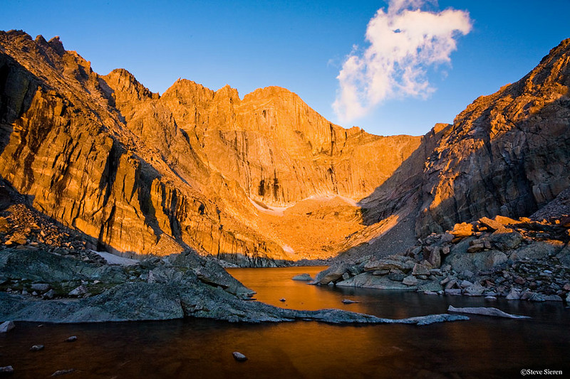 Under the Diamond  <br /> Chasm Lake - Rocky Mountain National Park, Colorado