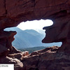 Pikes Peak through rock window