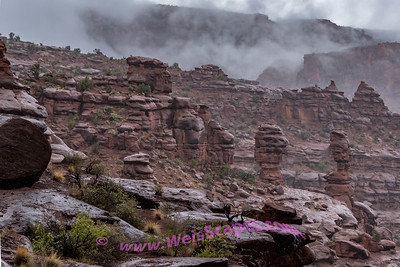 Rain Clouds at Fisher Towers