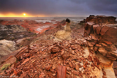 A Journey Through Time -  Northwestern New Mexico. Taken during the first big storm in April 2007 that swept across the U.S. from Pheonix to the North Eastern States.