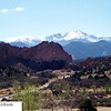 Pikes Peak from Garden of the Gods visitors center